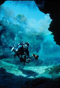 Little River Springs Underwater Diver Photo